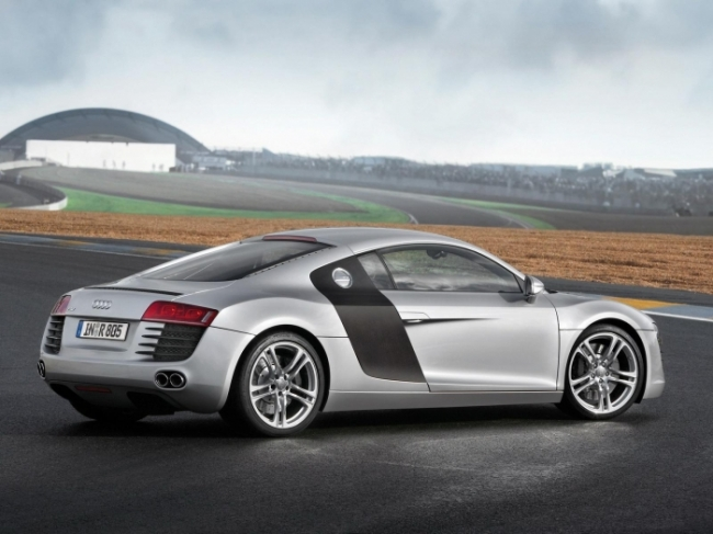 Audi R8 Rear And Side