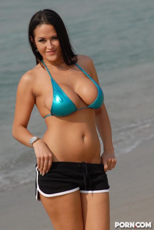 carmella bing blue bikini 3