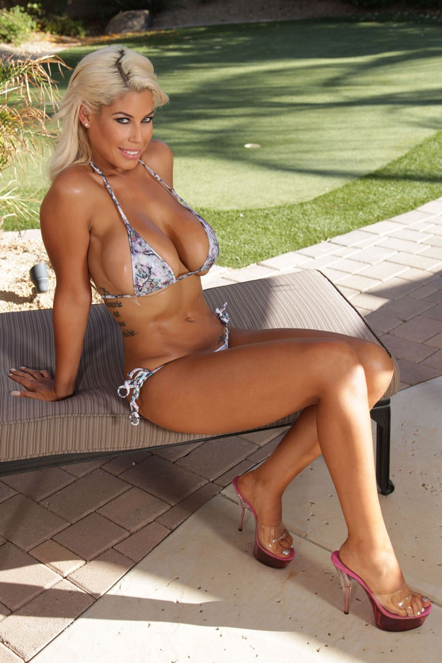 Bridgette B Paint Spatter Bikini 2