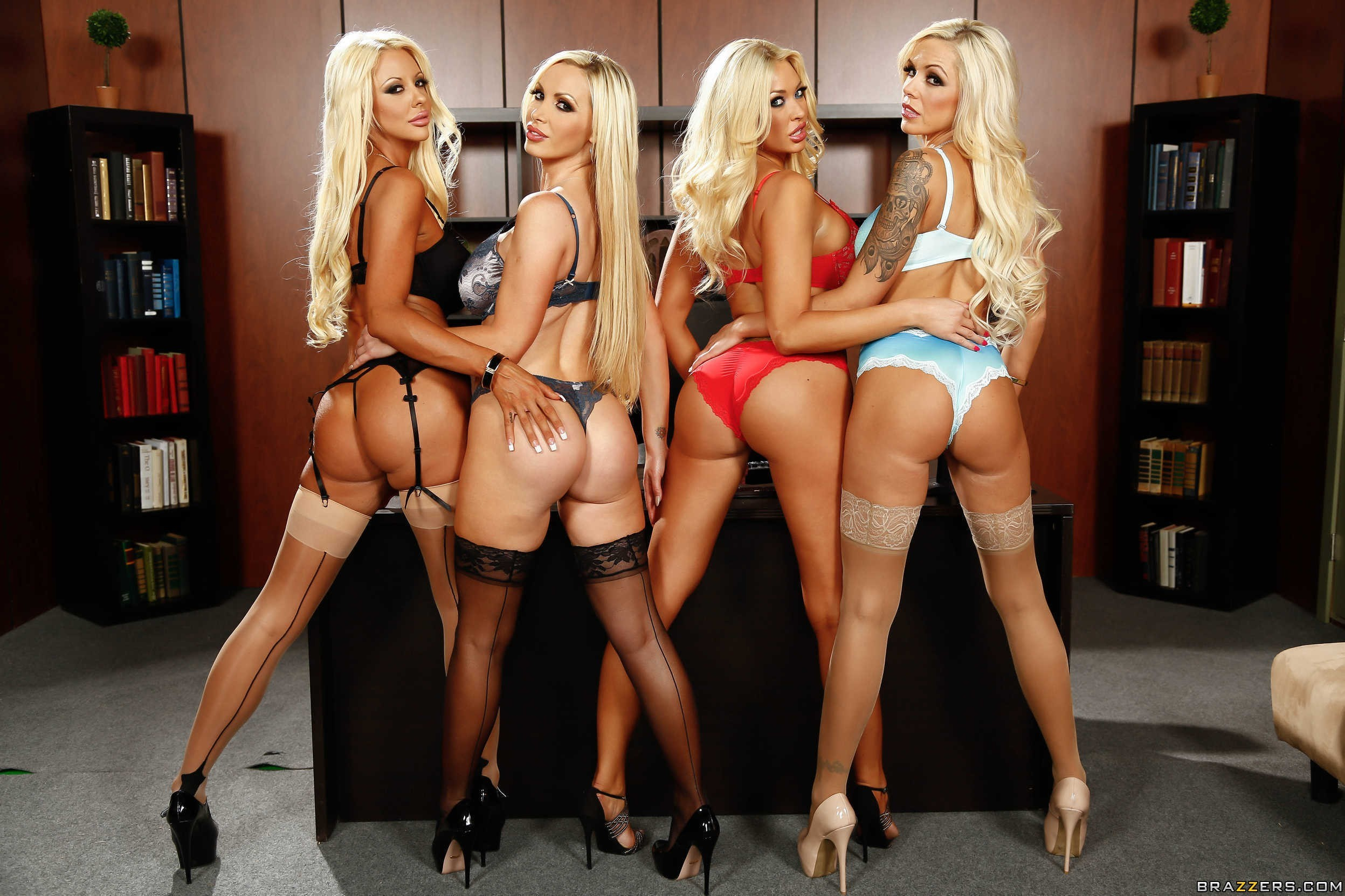 Nikki Benz, Summer Brielle, Courtney Taylor and Nina Elle