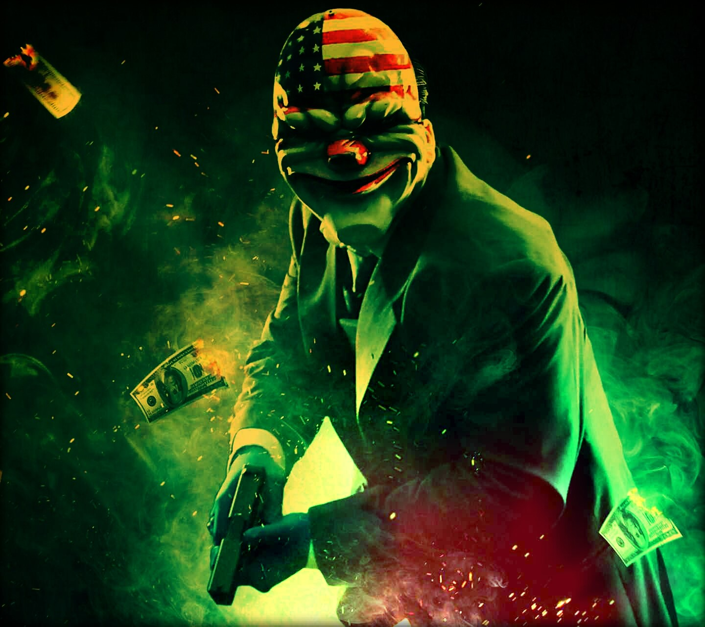 bank robbing clown wallpaper 10275640
