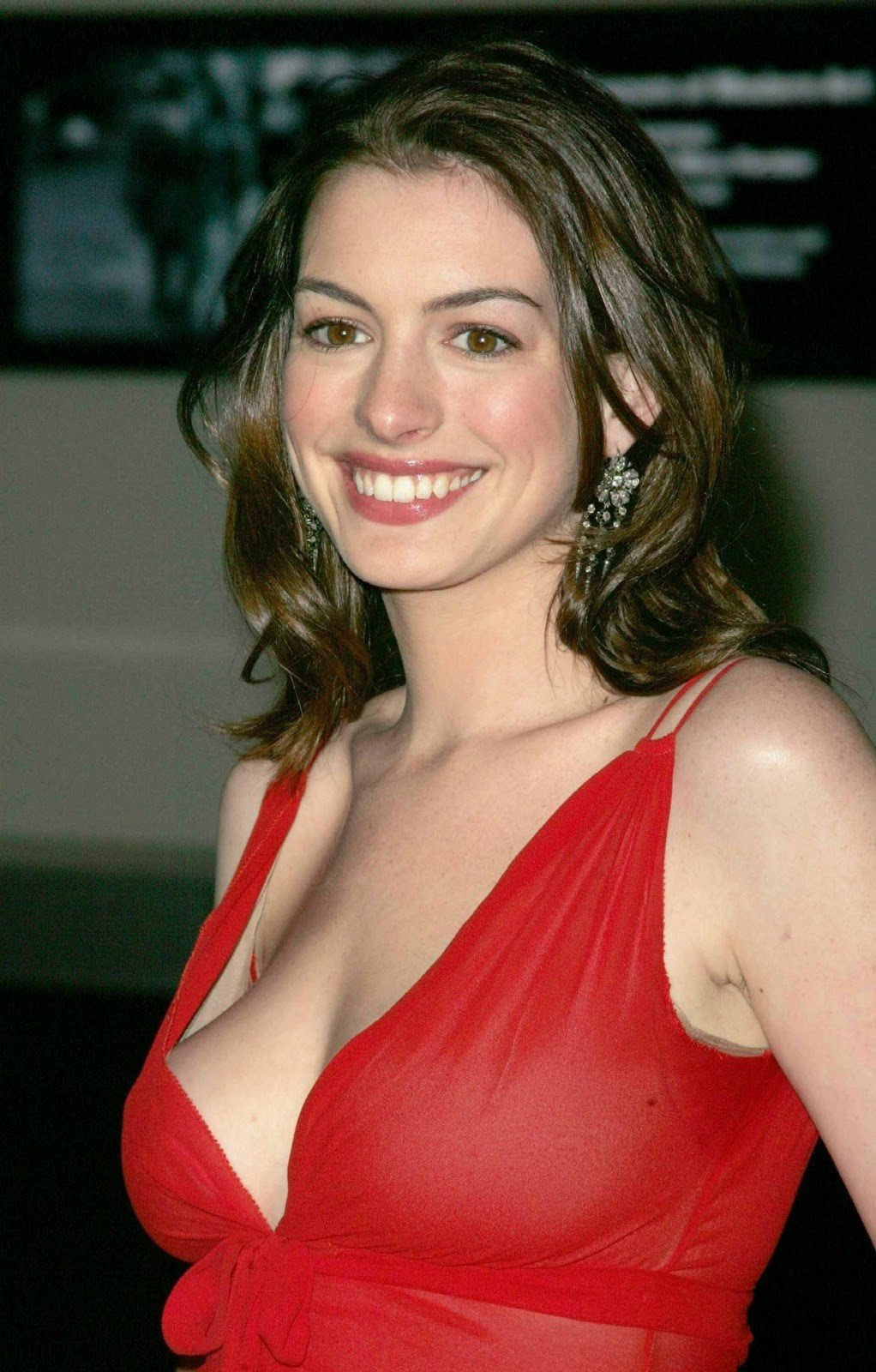 Anne Hathaway Red Dress Photos