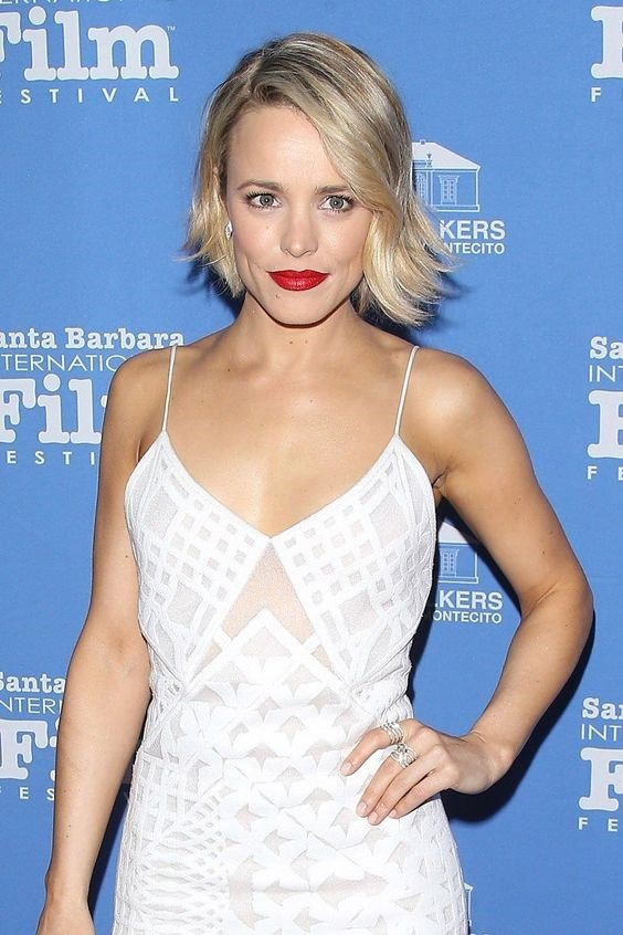 Rachel McAdams White Dress