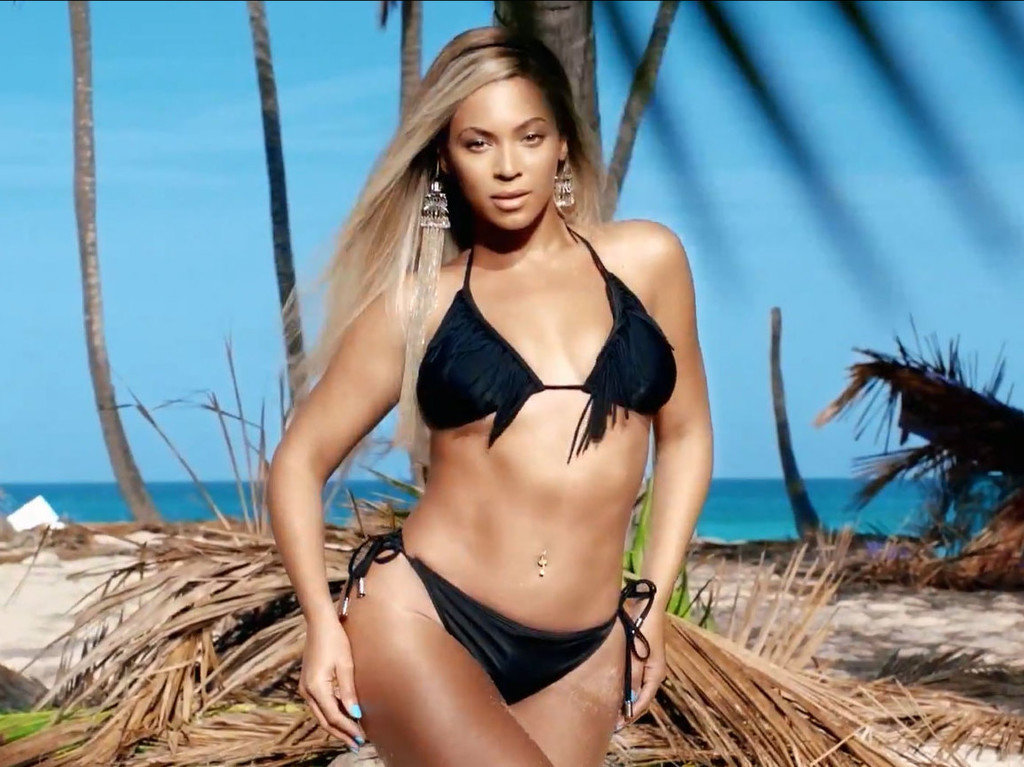 Beyonce Knowles Black Bikini