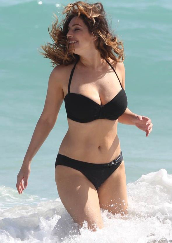 Kelly Brook Black Bikini