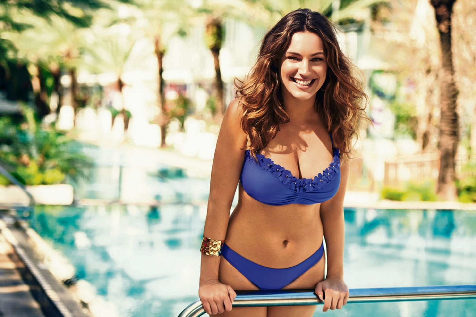 Kelly Brook Blue Bikini