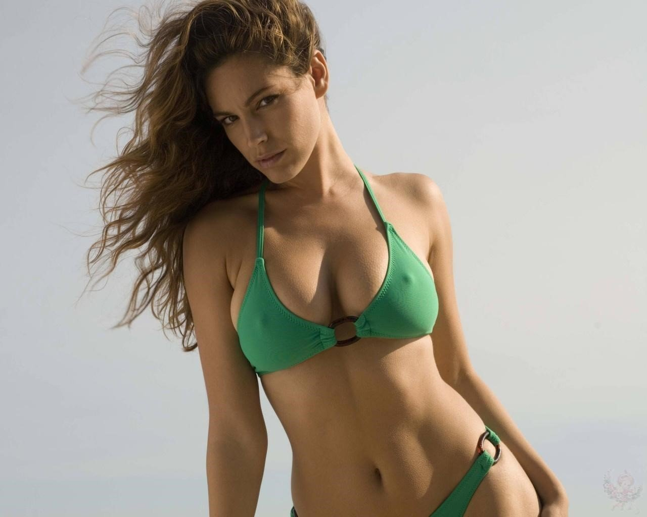 Kelly Brook Green Bikini