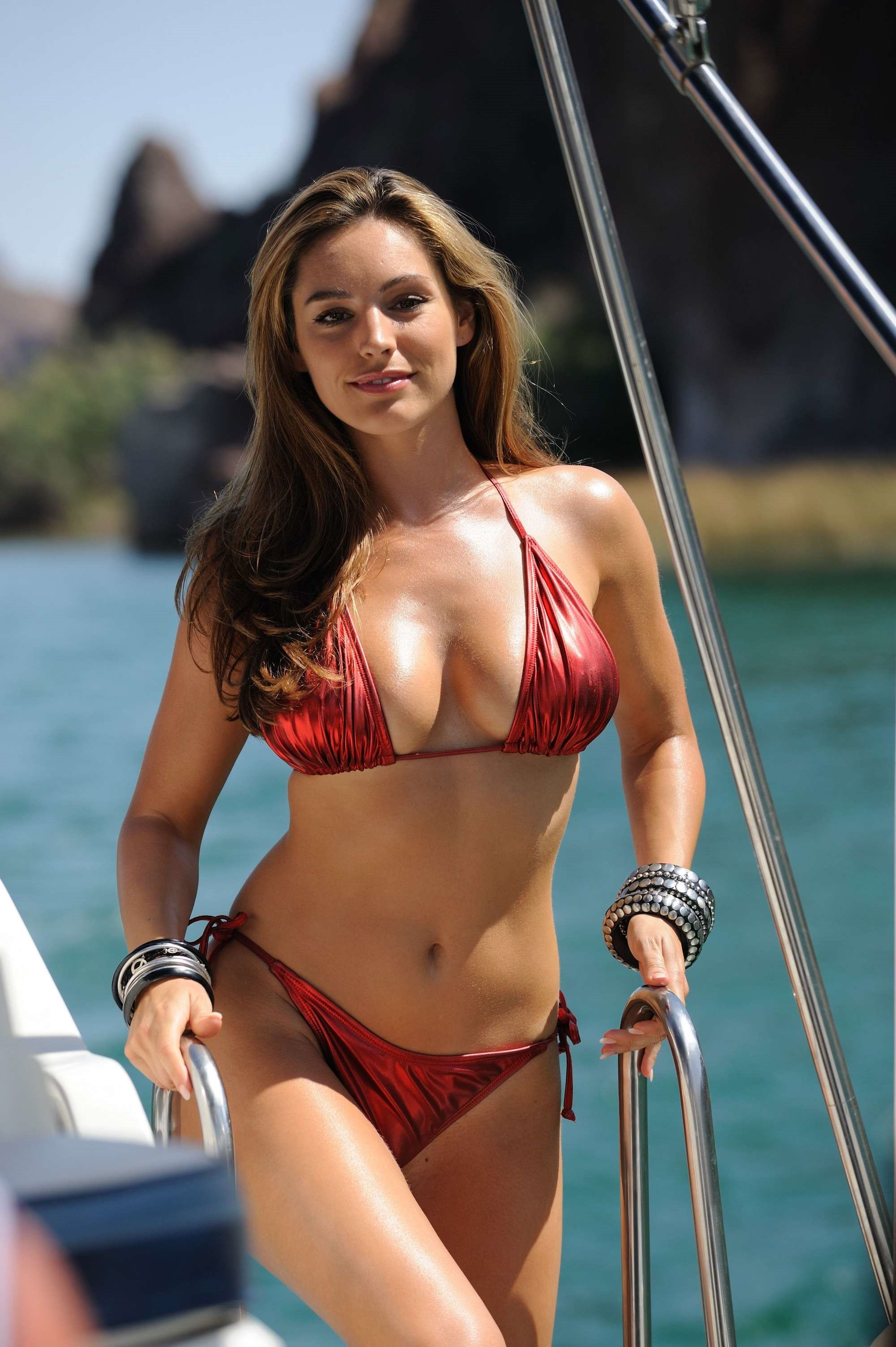 Kelly Brook Red Bikini 2