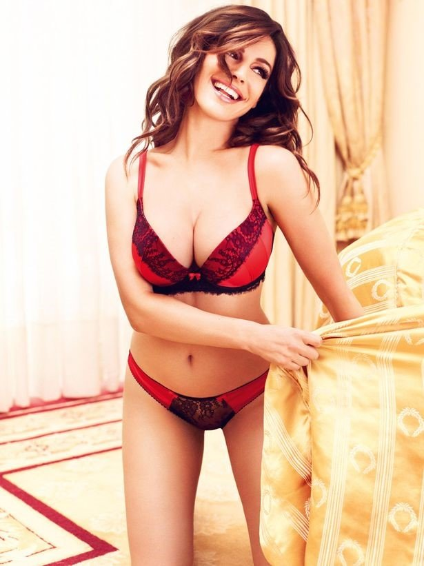 Kelly Brook Red Lingerie