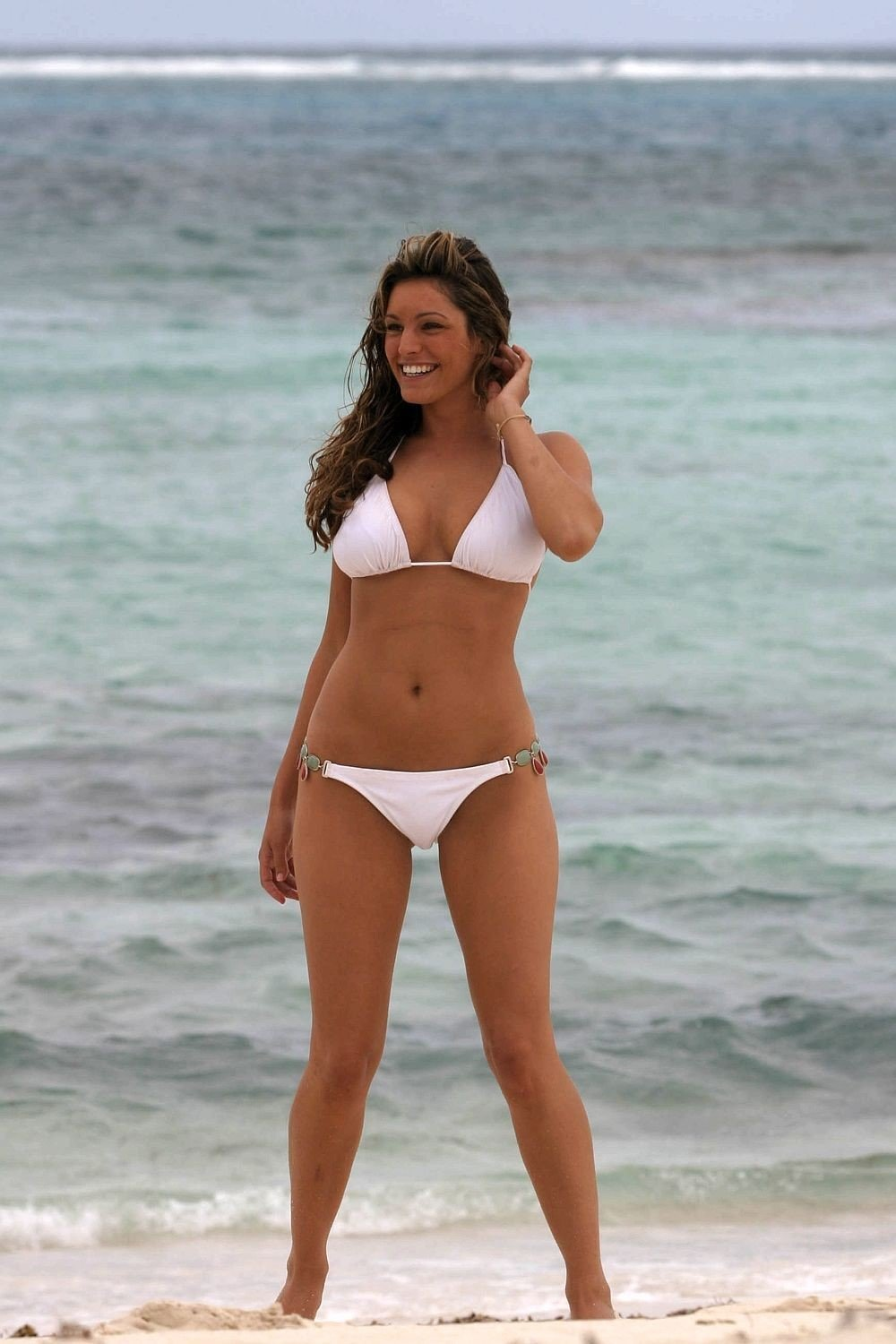 Kelly Brook White Bikini