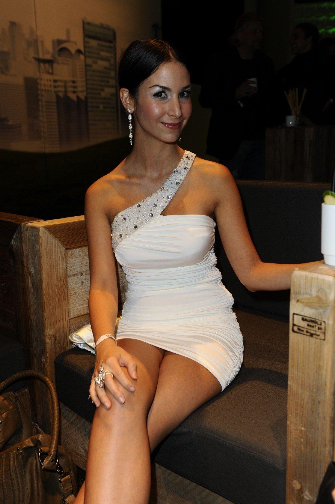 Sila Sahin White Dress 3