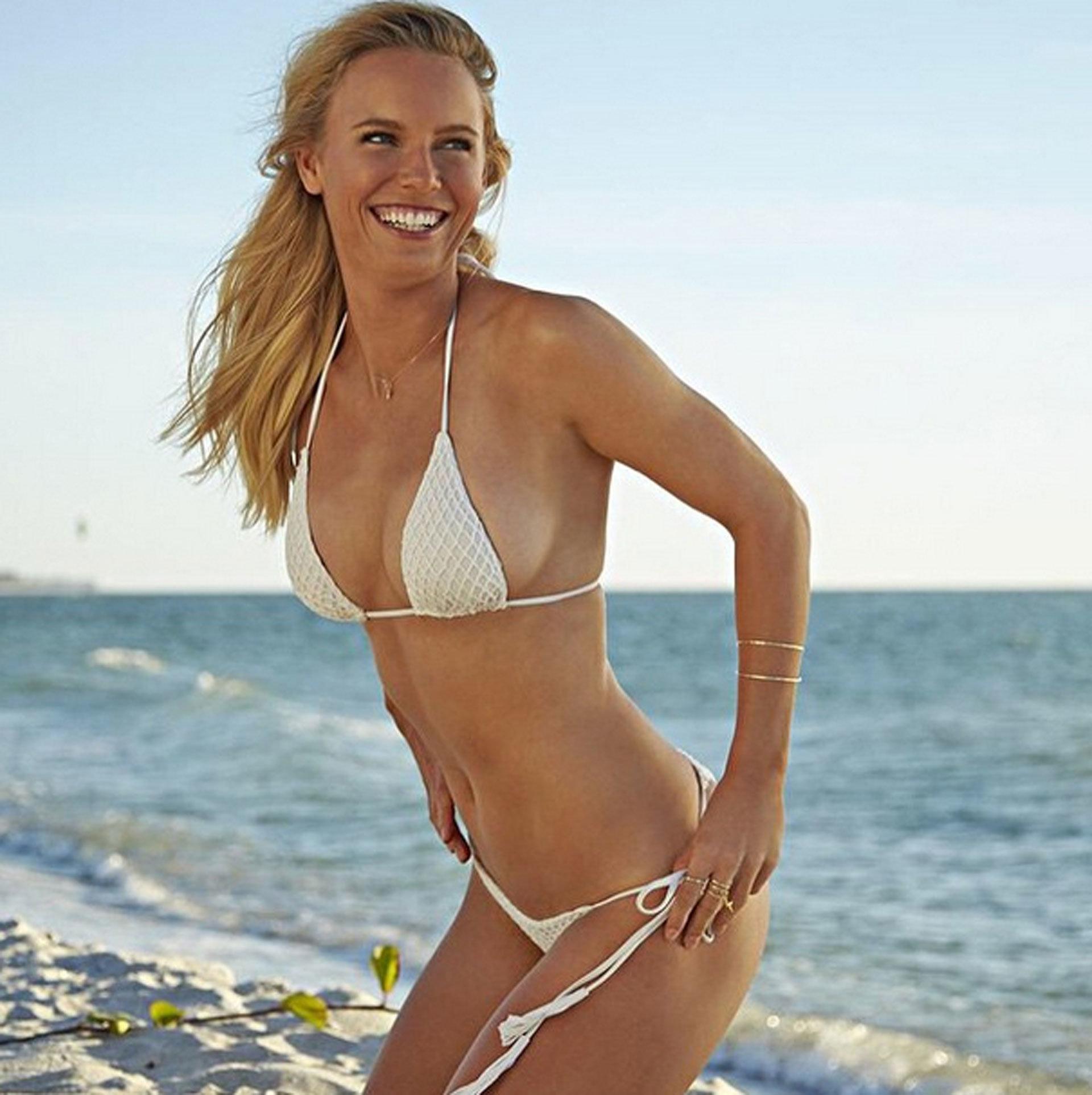 Caroline Wozniacki White Bikini