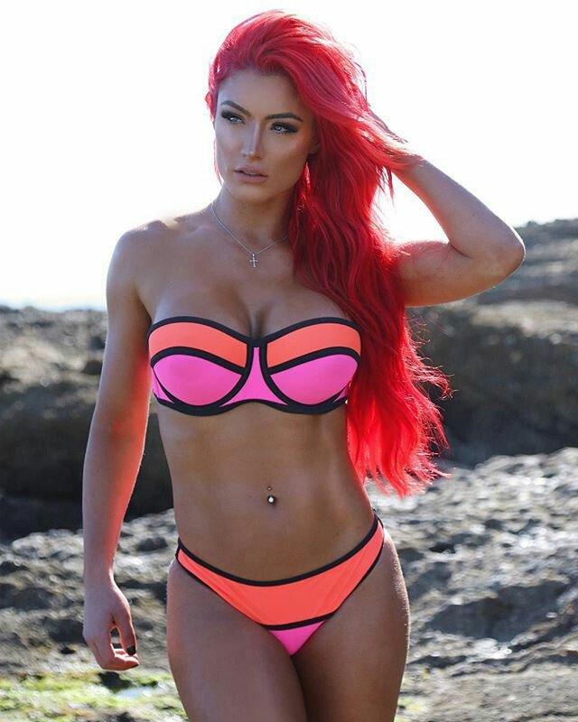 Eva Marie Pink Bikini