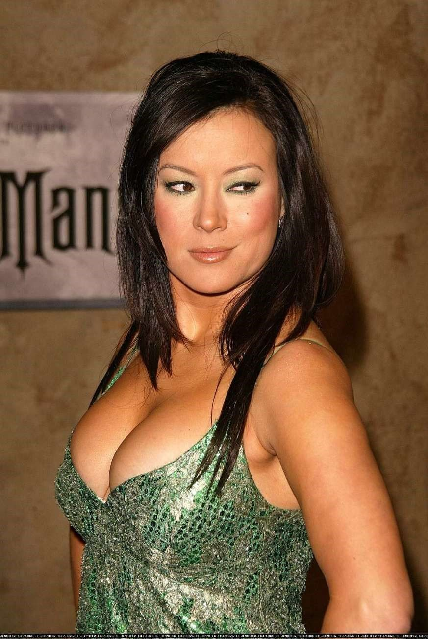 Jennifer Tilly Green Dress