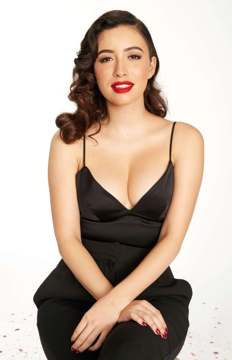 Christian Serratos Black Dress