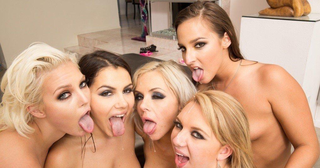 Nina Elle, Amirah Adara, Brooke Wylde, Jenna Ivory and Valentina Nappi