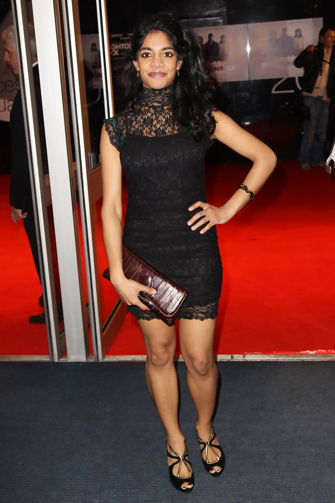 Amara Karan Black Dress Photos