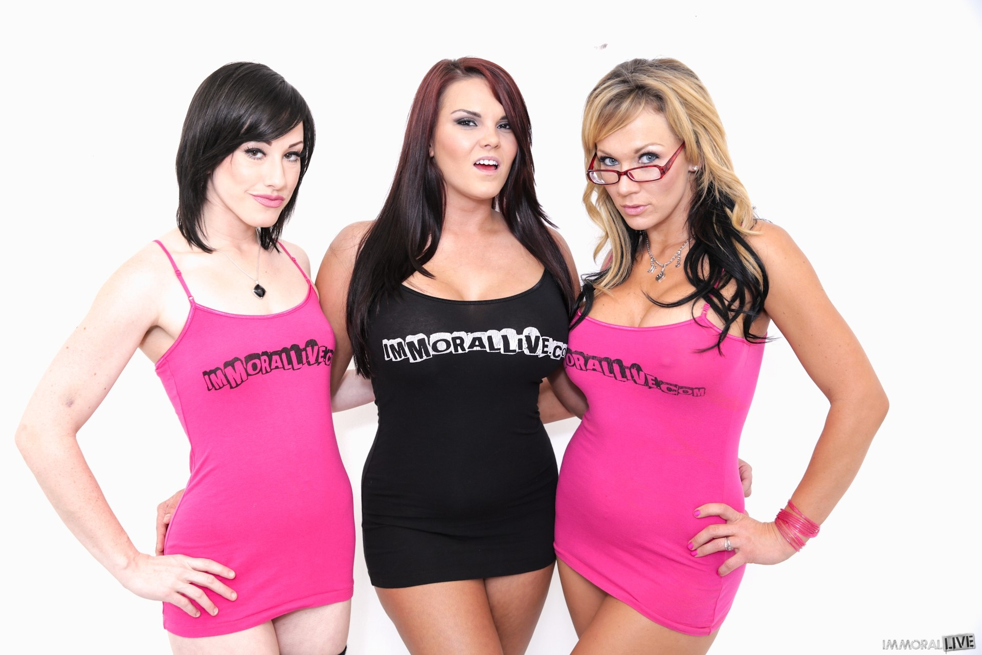 Jennifer White, Mackenzee Pierce and Nikki Sexx