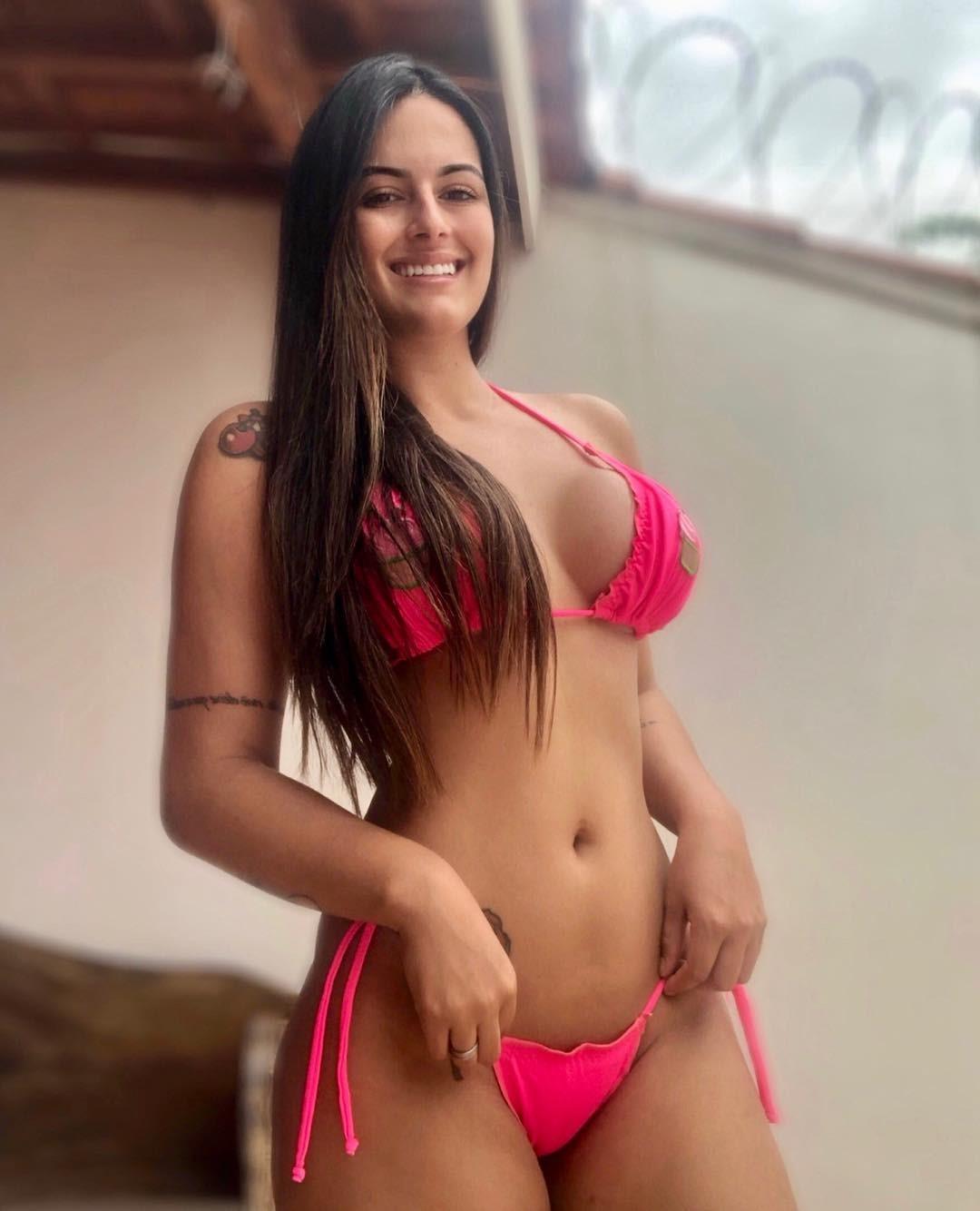 Lorrayne Rodrigues Pink Bikini