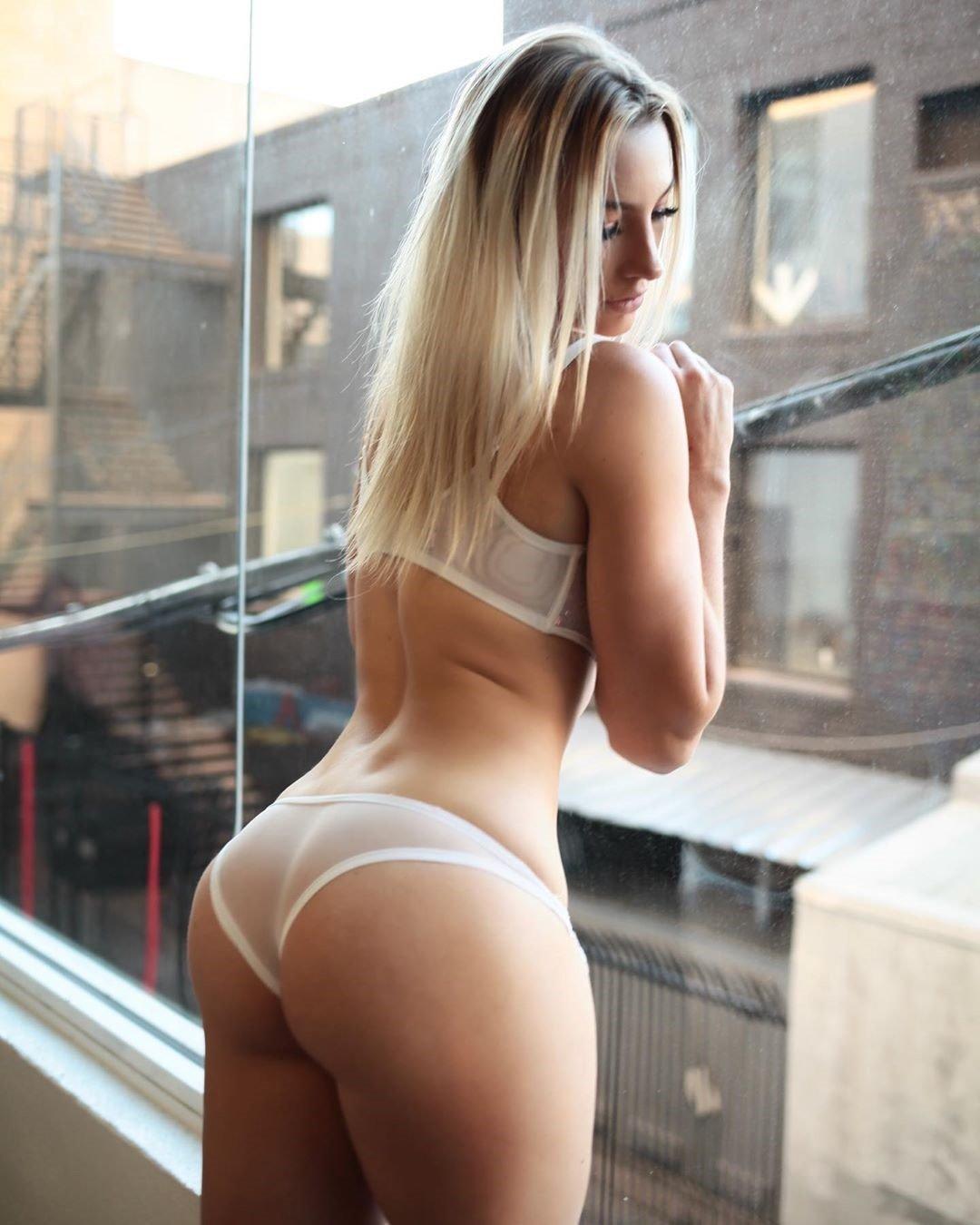 Emily Knight White Lingerie
