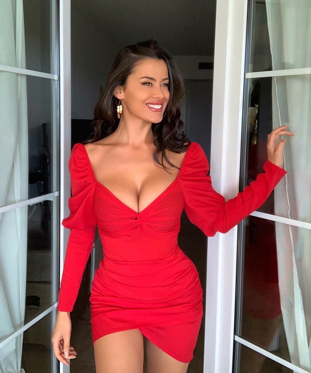 Eva Padlock Red Dress