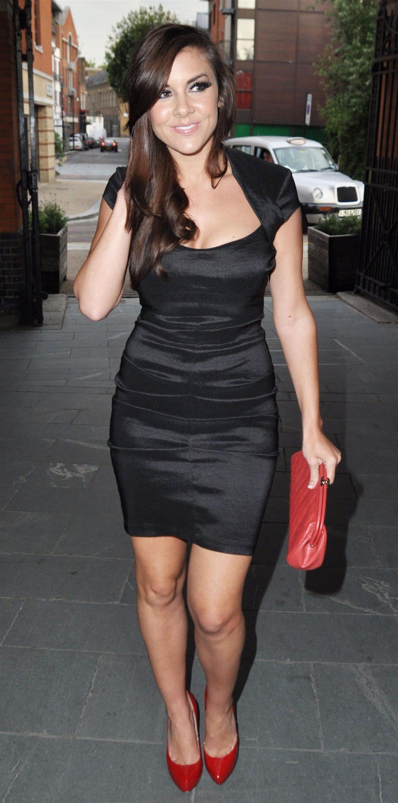 Imogen Thomas Black Dress