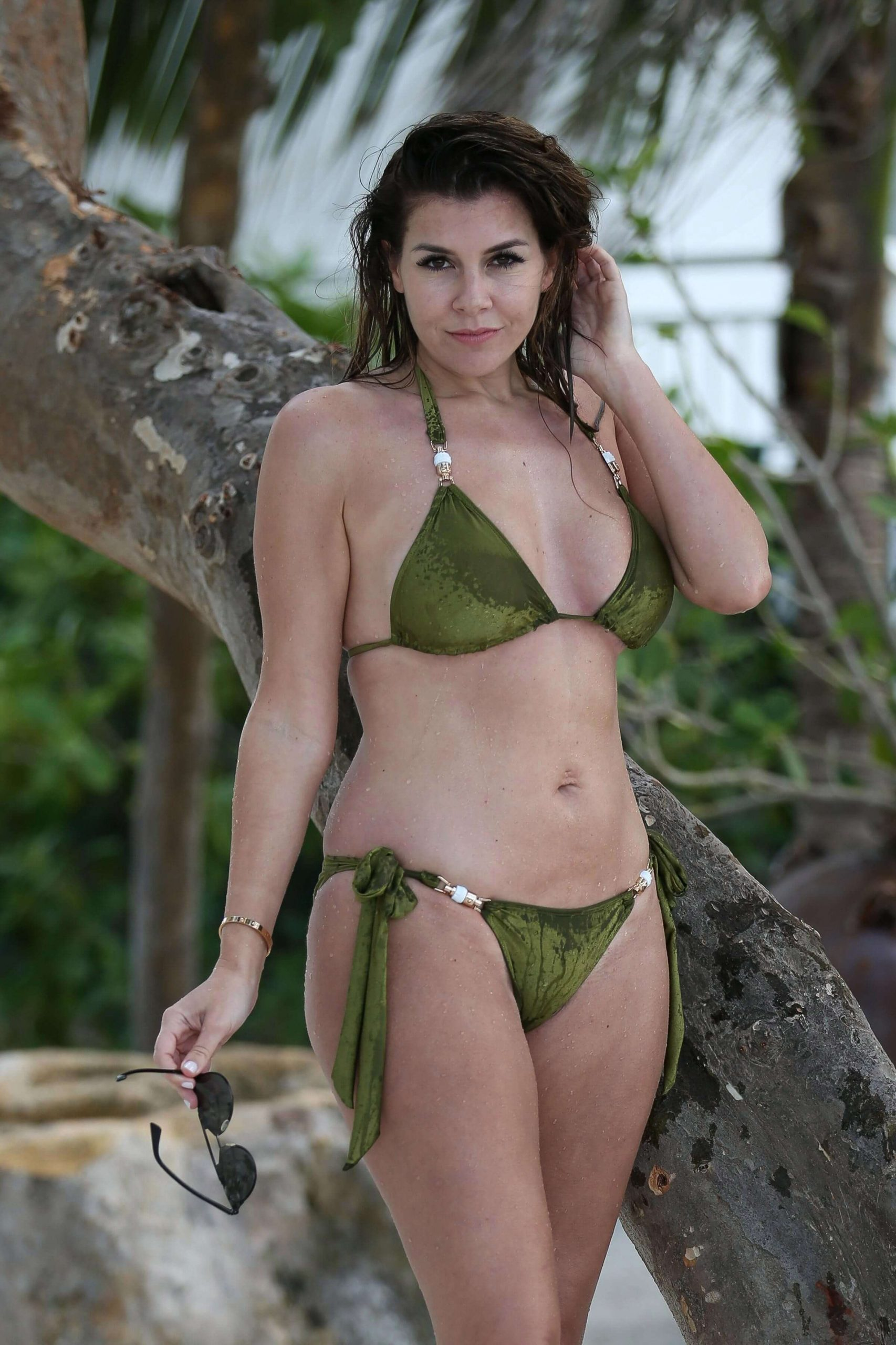 Imogen Thomas Green Bikini