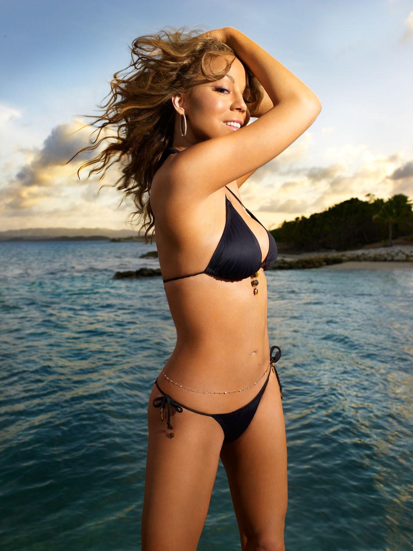 Mariah Carey Black Bikini