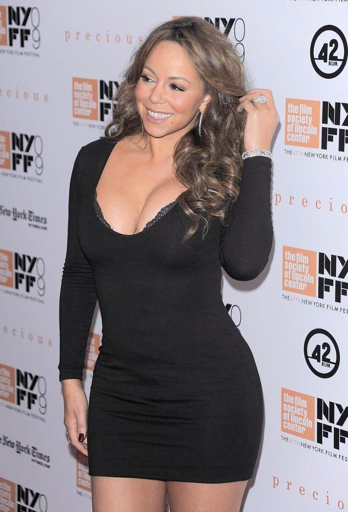 Mariah Carey Black Dress