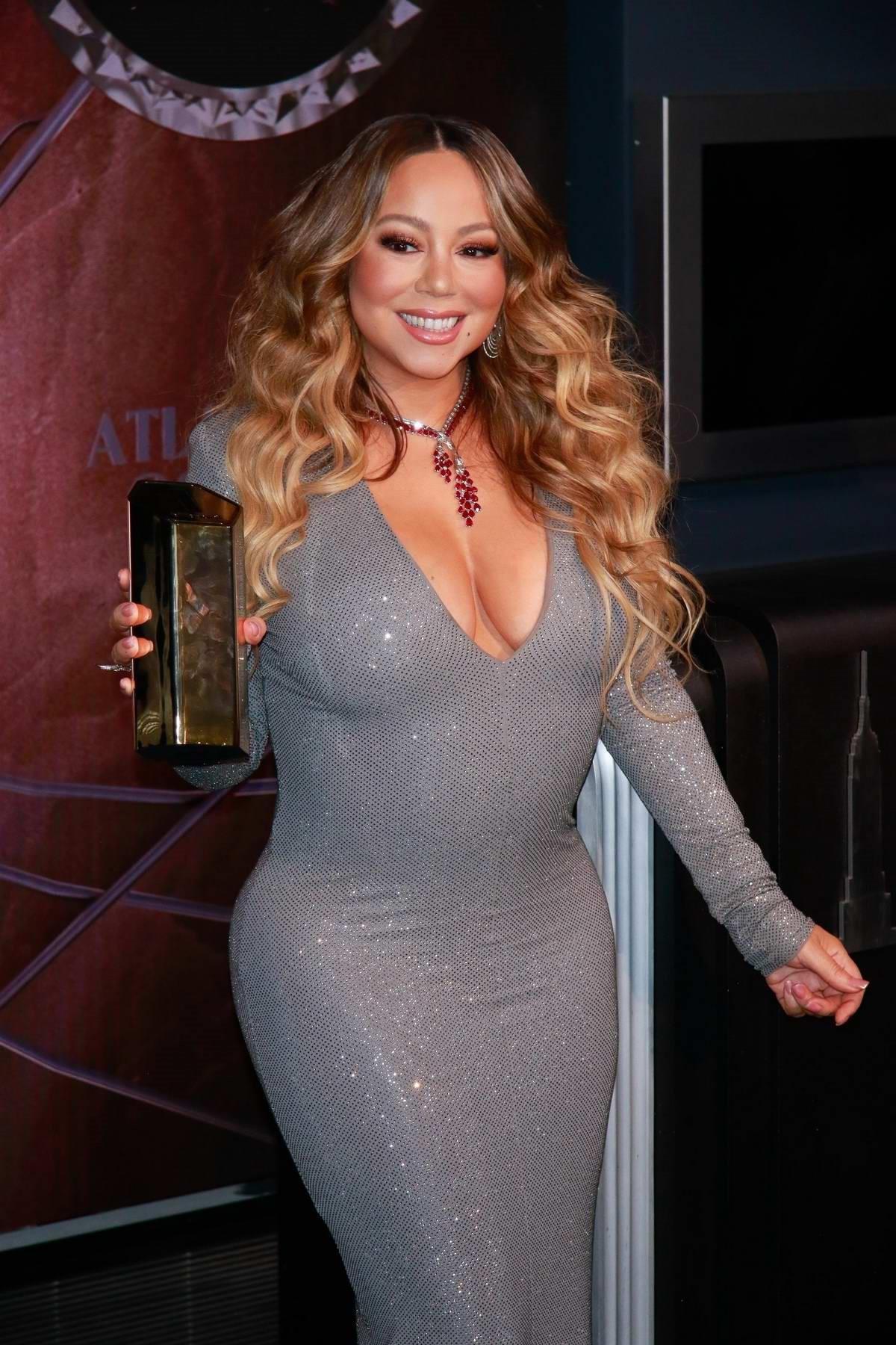 Mariah Carey Grey Dress