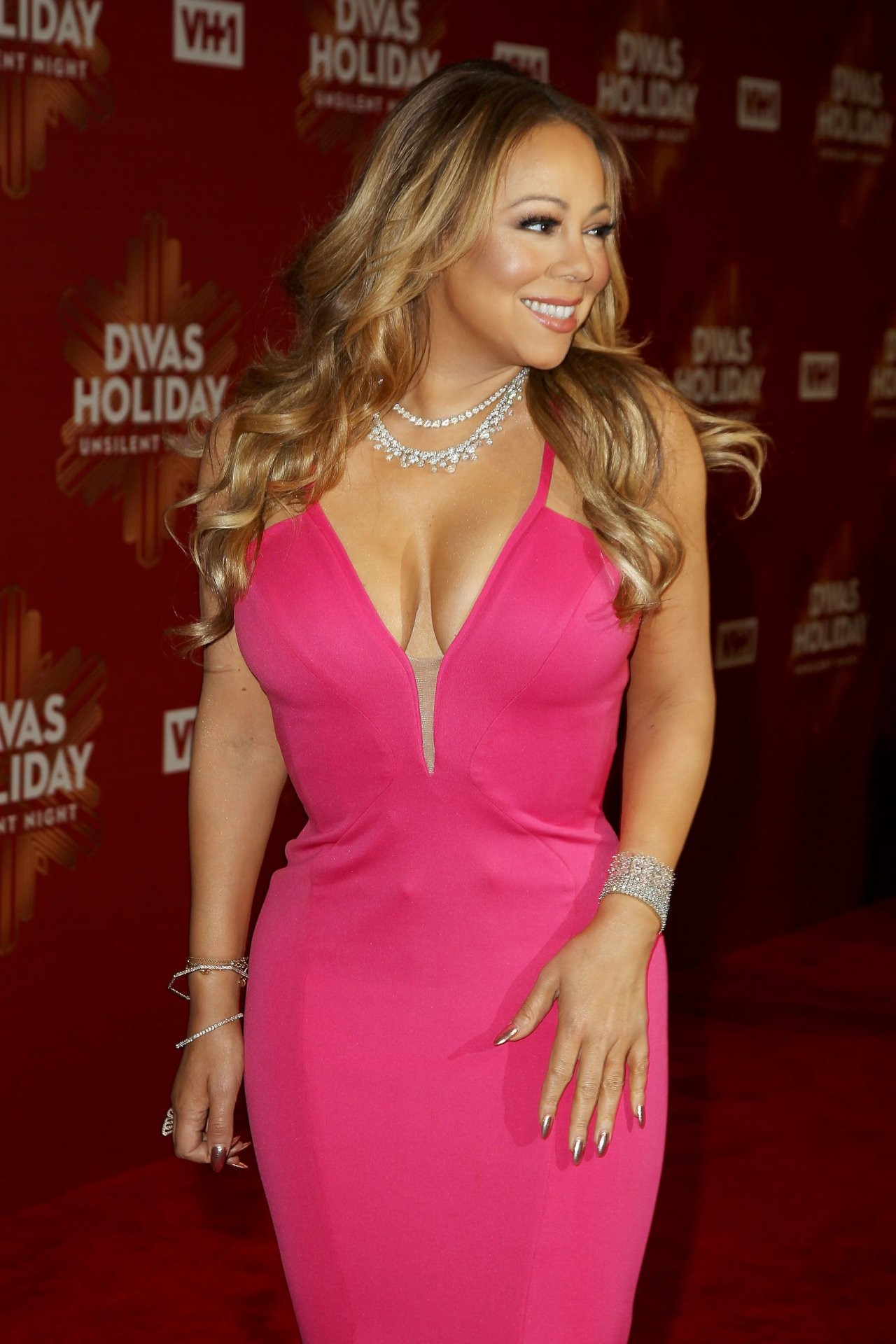 Mariah Carey Pink Dress