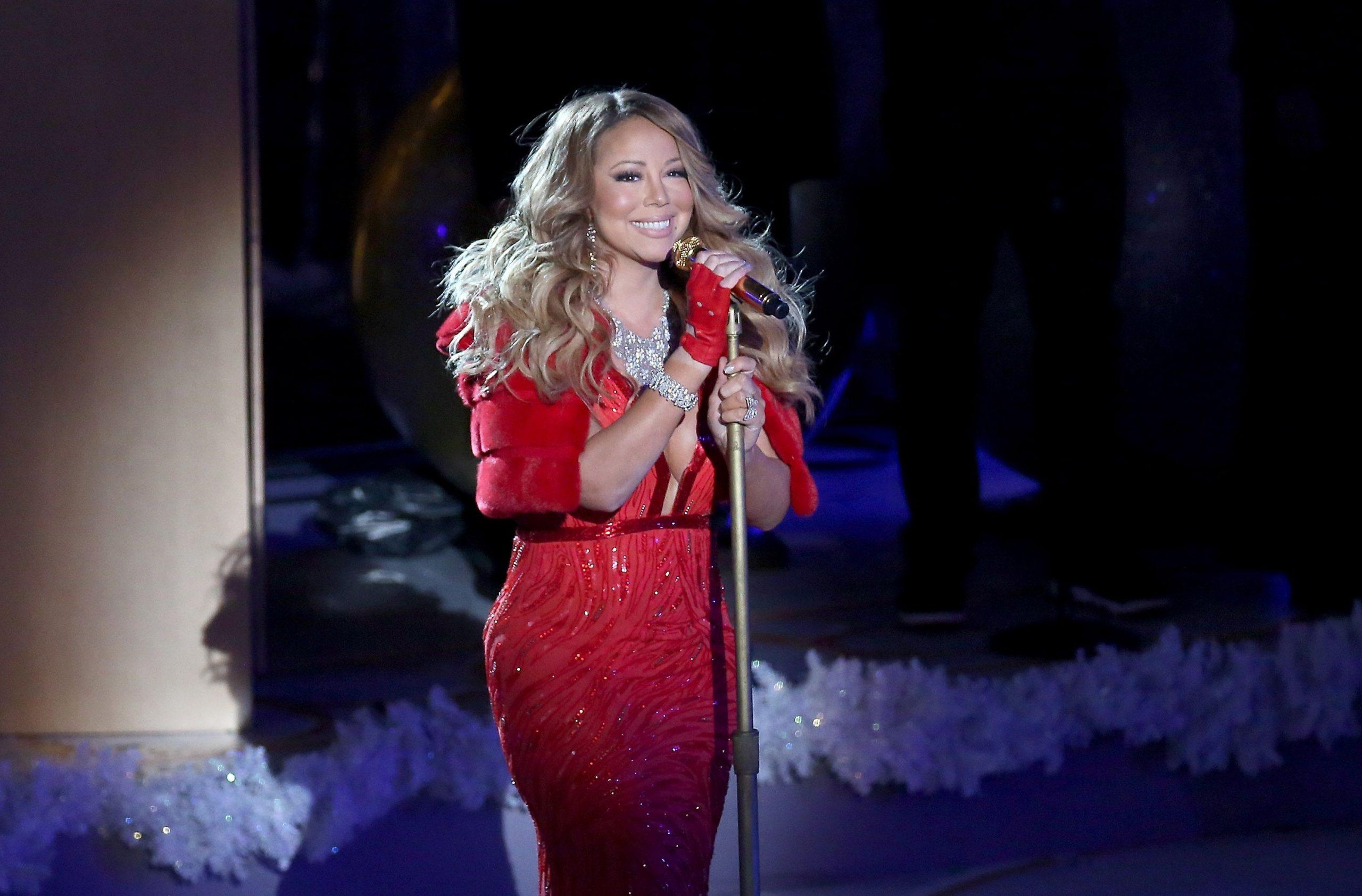 Mariah Carey Red Dress Wallpapers