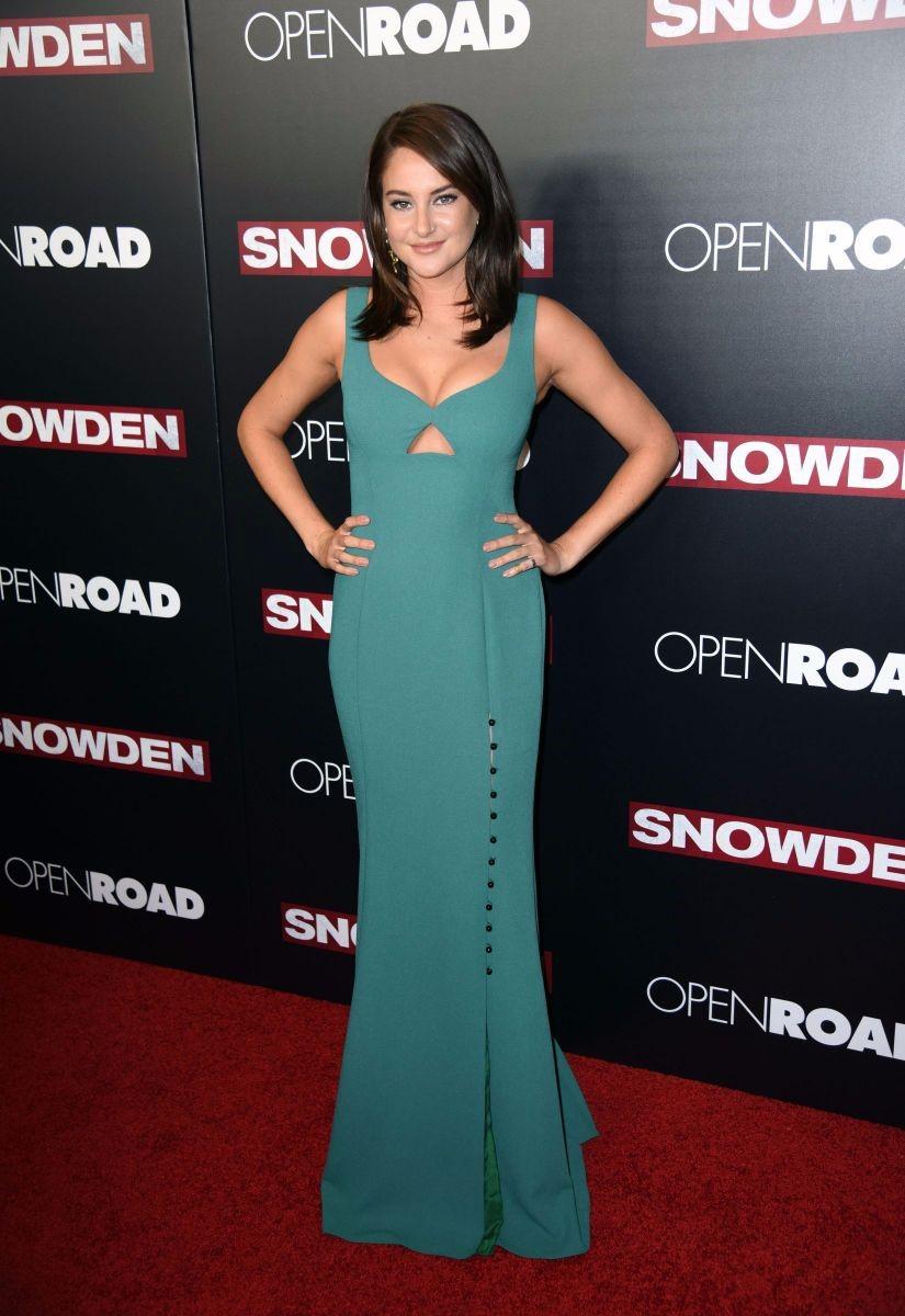 Shailene Woodley Green Dress