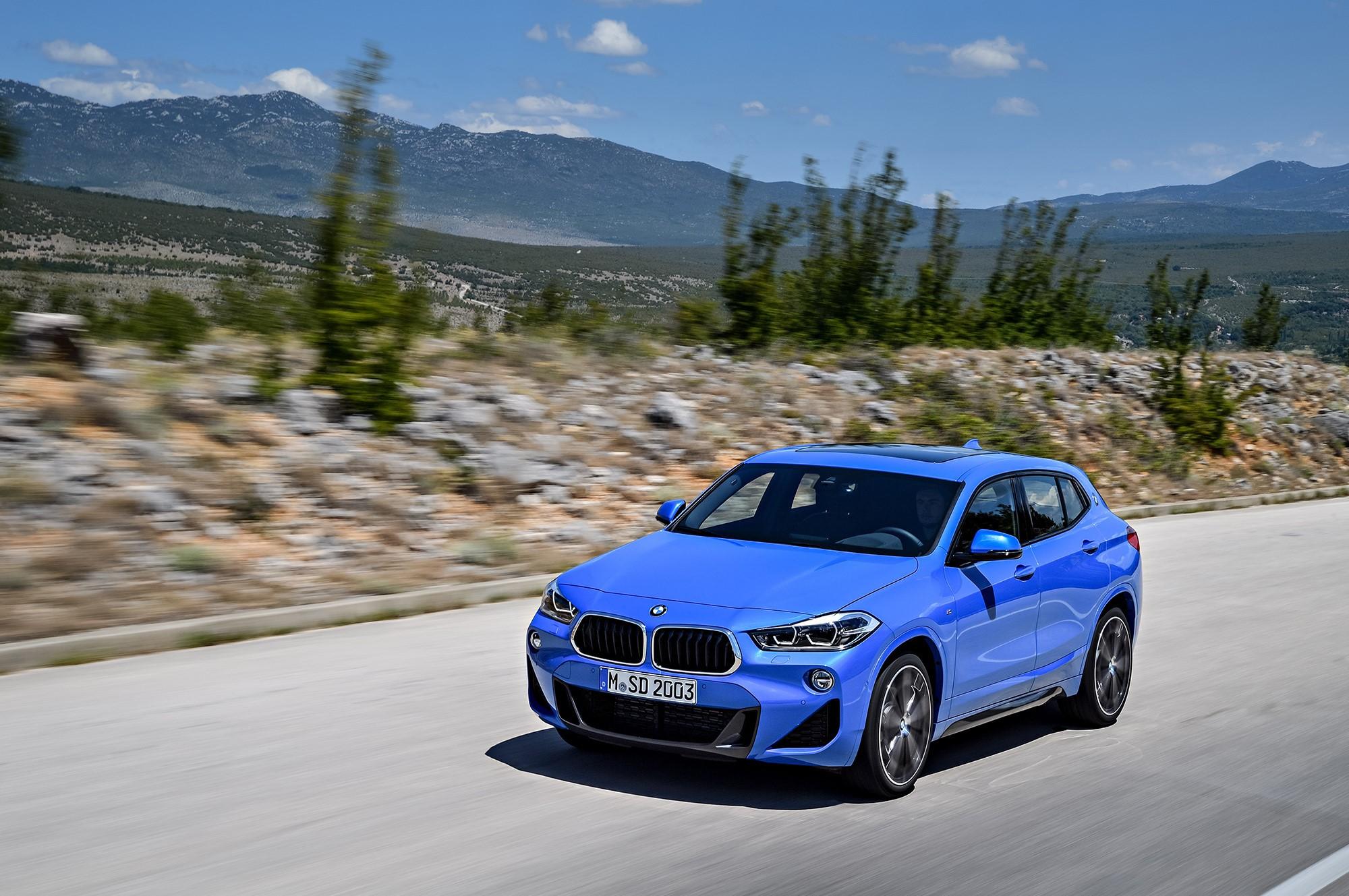 Blue BMW X2