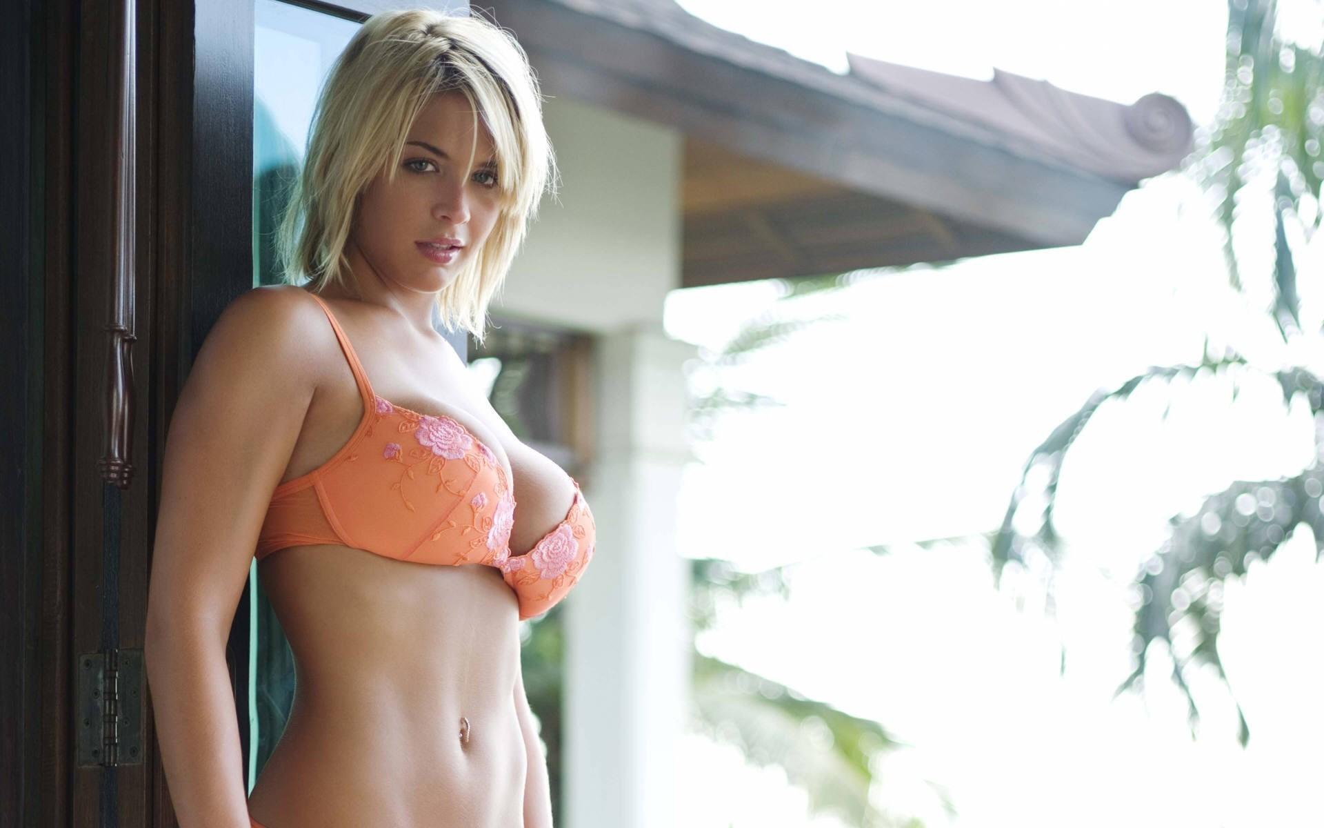 Gemma Atkinson Orange Lingerie
