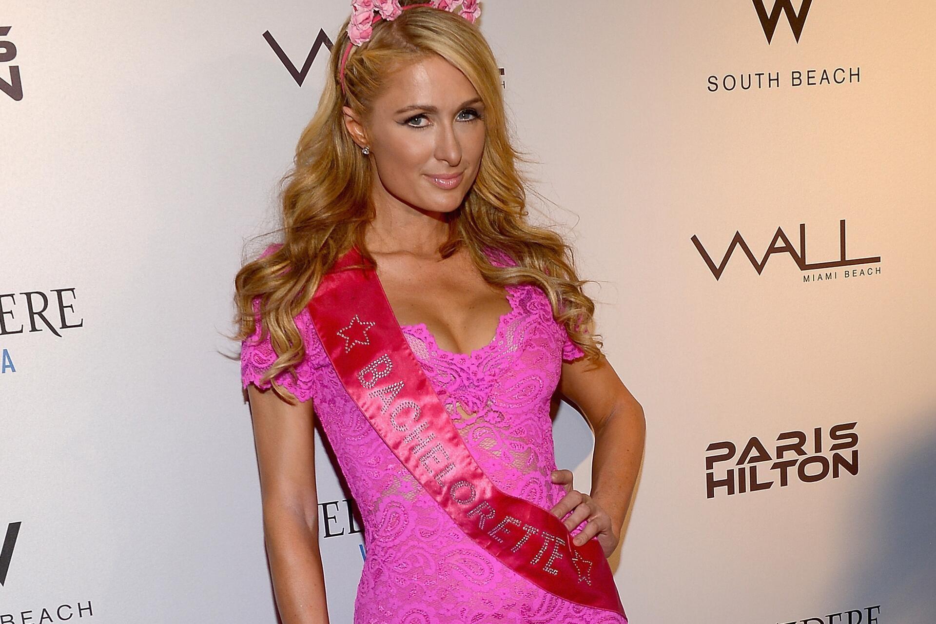 Paris Hilton Pink Dress