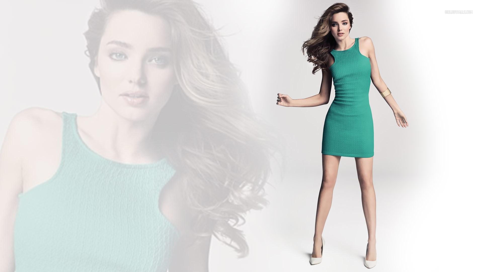 Miranda Kerr Green Dress