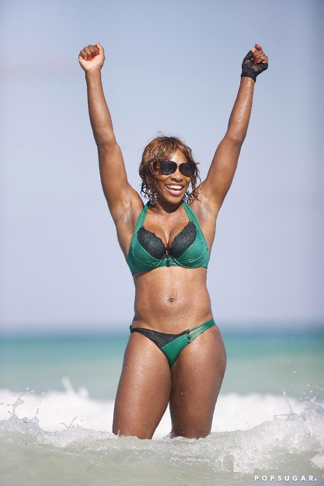 Serena Williams Green Bikini