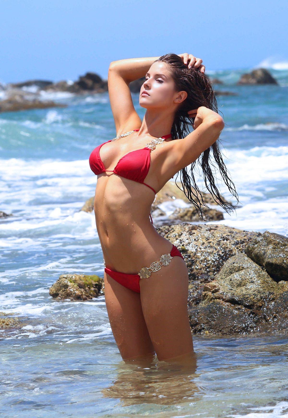 Amanda Cerny Red Bikini